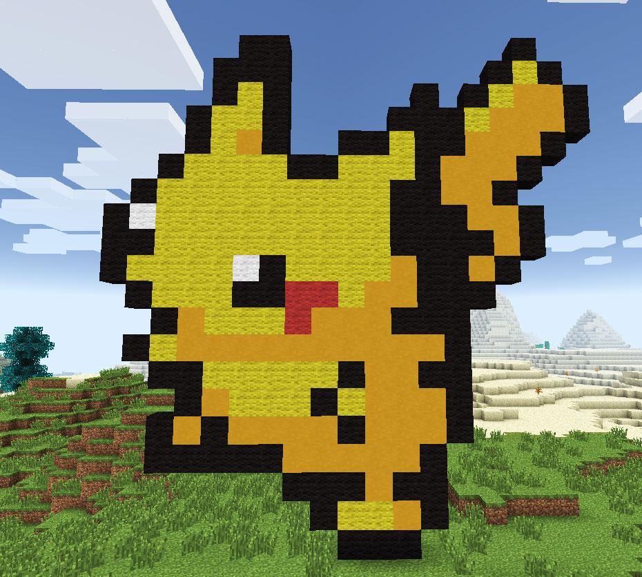 8 Bit Pixel Art in Minecraft – R2D2 Cupcake
